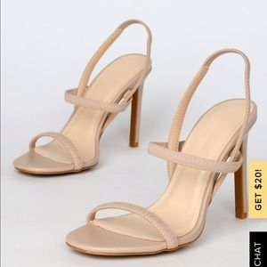 Lulu's nude strappy heel